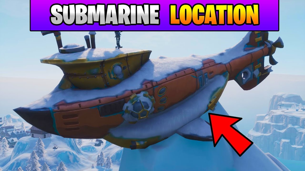 Fortnite Dance On Top Of A Submarine Location Stage 3 Fortnite