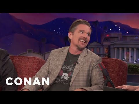 Robin Williams Helped Ethan Hawke Get His First Agent  - CONAN on TBS