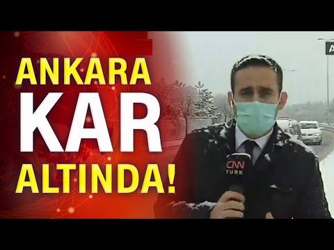 Son dakika! Ankara'ya lapa lapa kar yağdı!