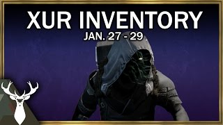 xur inventory review jan 27 29