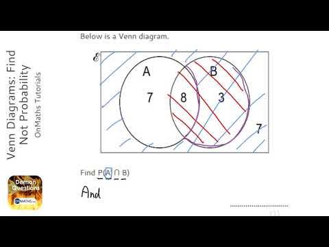 Venn Diagrams Find Not Probability Grade 5 Onmaths Gcse Maths