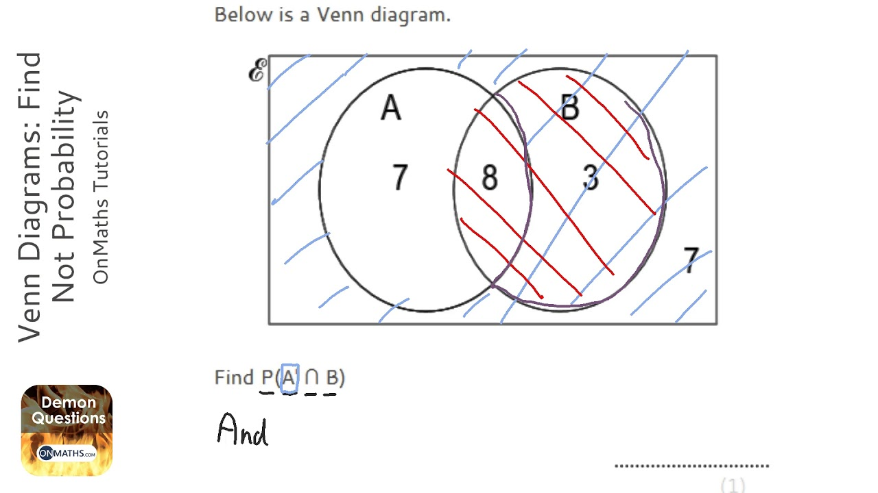 Venn Diagrams: Find Not Probability (Grade 5) - OnMaths GCSE Maths Revision