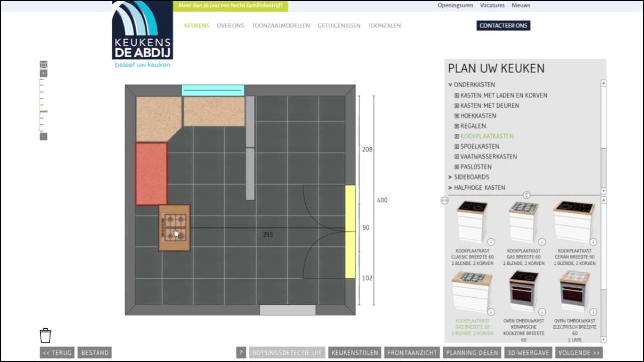 De online keukenplanner van keukens de abdij youtube for Keuken planner