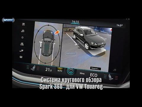 Birdview 360°3D HD Spark для Volkswagen Touareg Система кругового обзора для Фольксваген Туарег