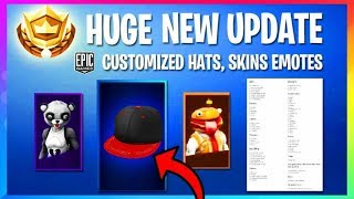 *NEW* MASSIVE UPDATE Customizable Hats, Skins, Emotes, Cage Trap! (Fortnite Battle Royale Leaks)