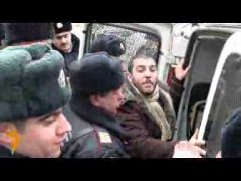 RACIST police in Azerbaijan fights their own young muslim generation.flv