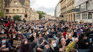 Protesters Demand Removal Of Cecil Rhodes Statue In Oxford
