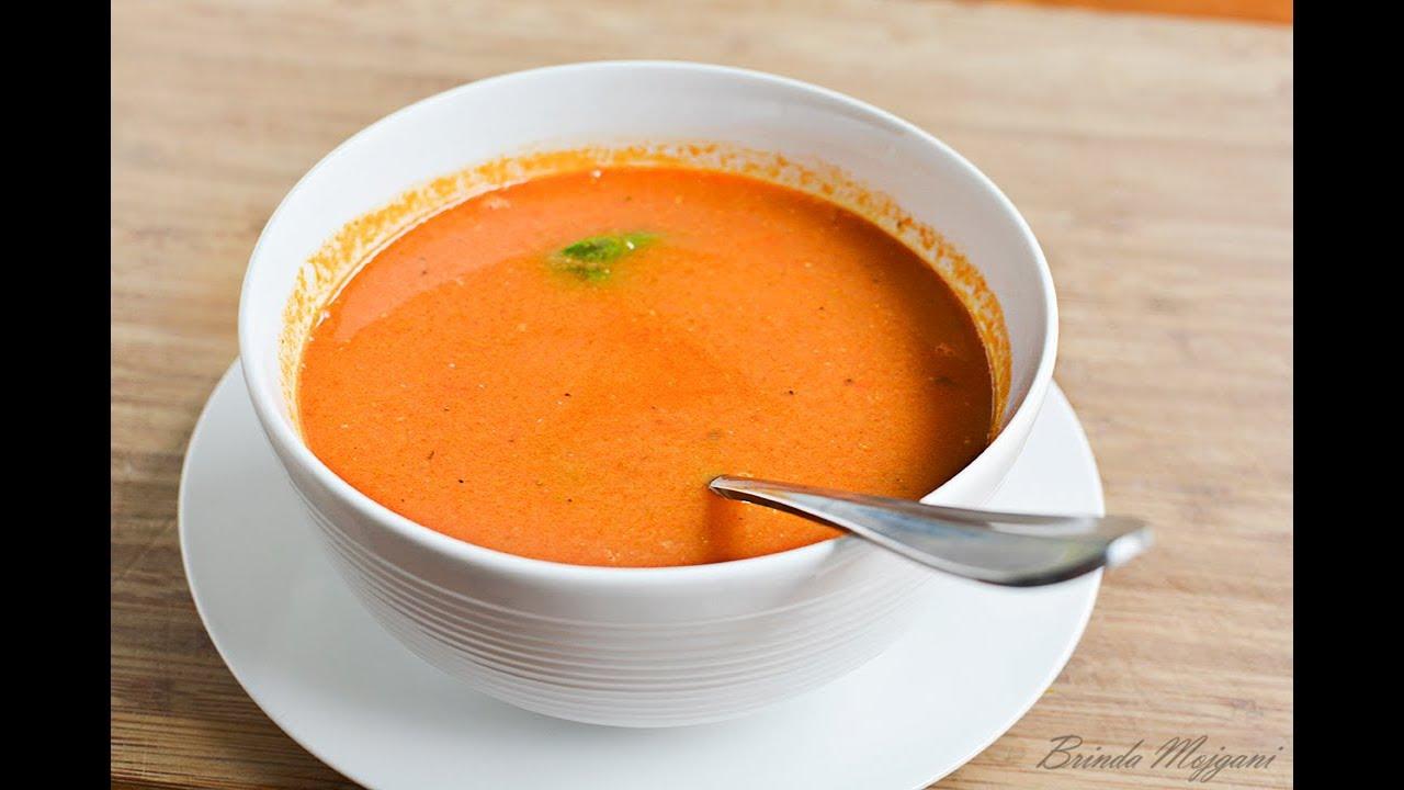 Fresh Tomato Soup Recipe Vegan Youtube