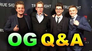 OG True Sight Q&A - The International 2018 DOTA 2