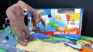 Gorilla Attack Hot Wheels Gravity Track Set