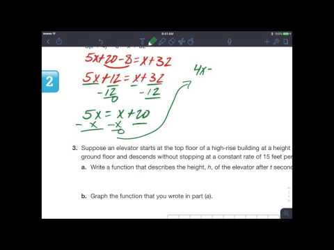 Chapter 2 Test Review Carnegie Learning