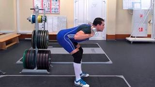 видео Наклоны со штангой на плечах стоя: техника и нюансы упражнения