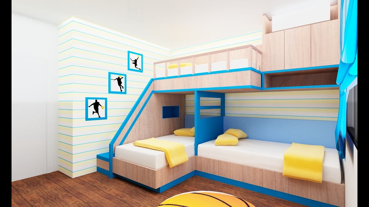 30 bunk bed idea for modern bedroom room ideas youtube for Small double bedroom decorating ideas