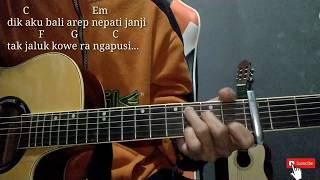 DEMI KOWE - PENDHOZA | Acoustic Version By Singgih Amasto | Chord/Kunci Gitar Mudah Pemula