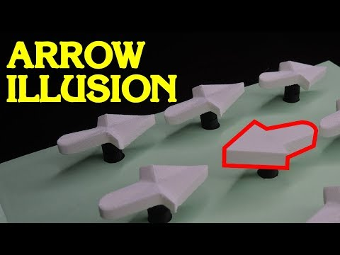 Dancing Right Arrow Optical Illusion