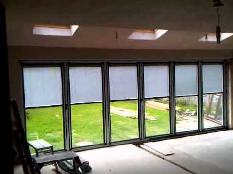 Bi Folding Door Blinds Youtube