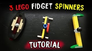 How to Build 3 Different LEGO Fidget Spinners