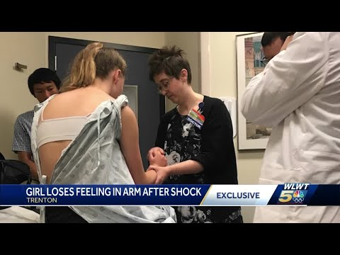 Trenton girl loses feeling in arm after shock