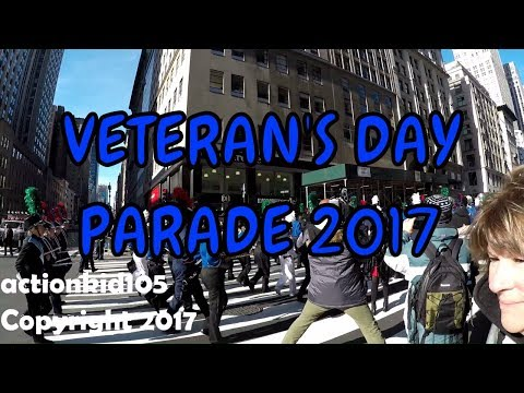 Full 2017 NYC Veteran's Day Parade - Timestamps in Description