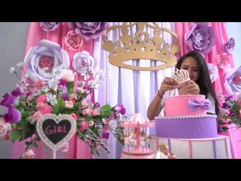 Decoracion Baby Shower Nina De Princesa.Decoracion Baby Shower Princesa Youtube