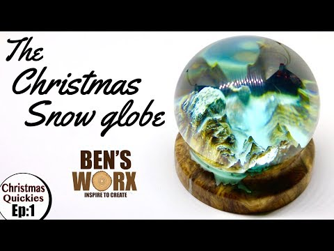Turning Wood and Epoxy Resin into a Christmas snow globe