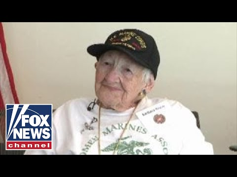One of the first female Marines honored at luncheon