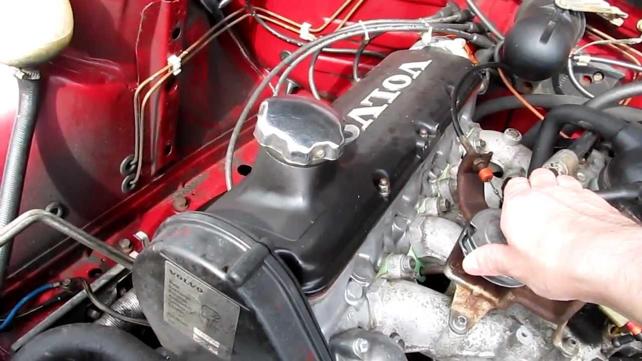 Volvo 740 B230 carburator engine running idle - YouTube