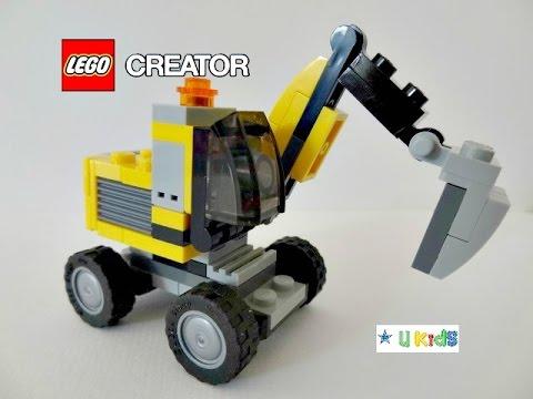 ต่อเลโก้รถแม็คโครตักดิน ขนดิน ขุดดิน  # 1 (วิดีโอแนะนำของเล่น เกมส์ต่อเลโก้)