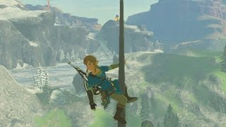Legend of Zelda: Breath of the Wild - Scaling the Temple of Time Gameplay