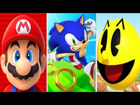 Super Mario Run vs Sonic Dash vs Pacman