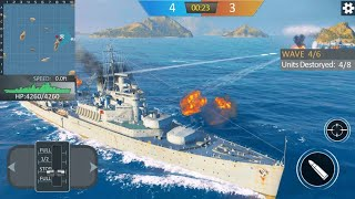 Warship sea battle Android Gameplay