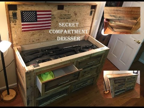 Secret Gun Compartment Dresser Youtube