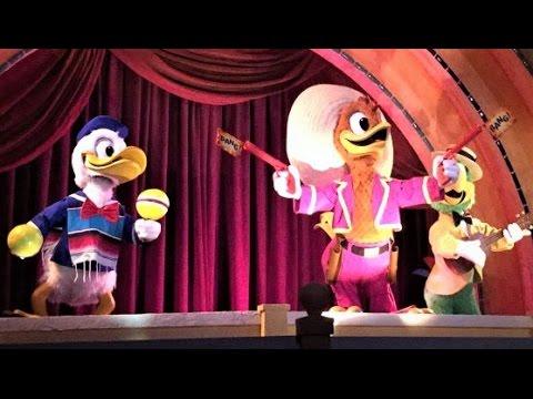 EPCOT MEXICO RIDE 2017 Gran Fiesta Tour Starring The Three Caballeros