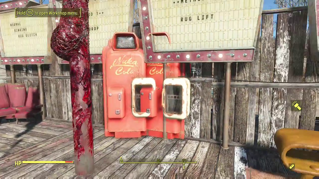 FALLOUT 4 No More Sinking Items. Three No Sink Rug Glitch Techniques.