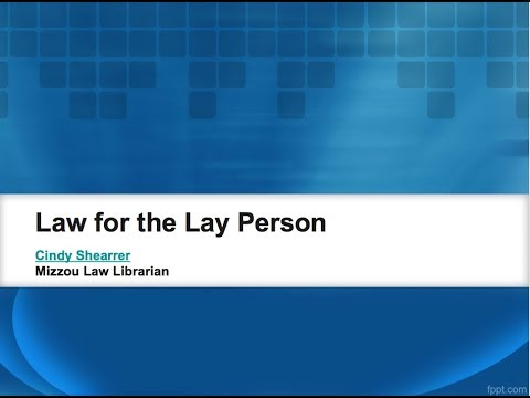 Law for the Lay Person