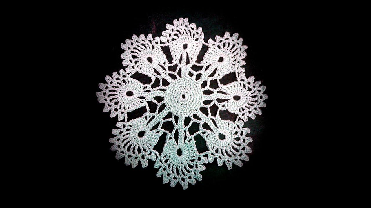 простая схема вязания снежинки крючком
