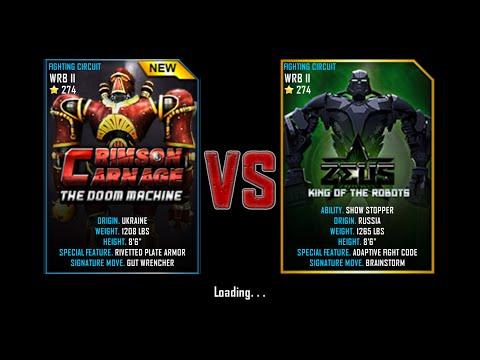 Real Steel WRB Championship Crimson Carnage VS Zeus NEW ROBOT UPDATE