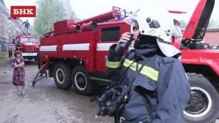 Пожар в общежитии на ул. Катаева Сыктывкар