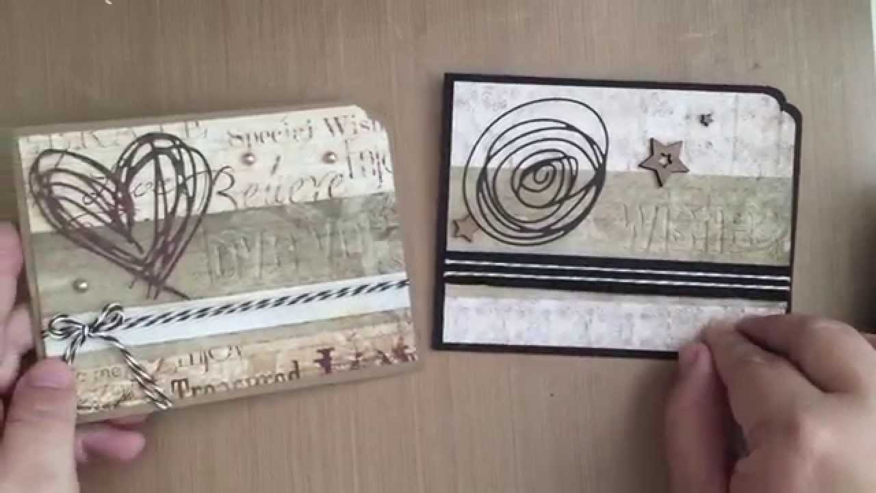 Cardmaking With Tim Holtz Scribbles And Splats Dies YouTube