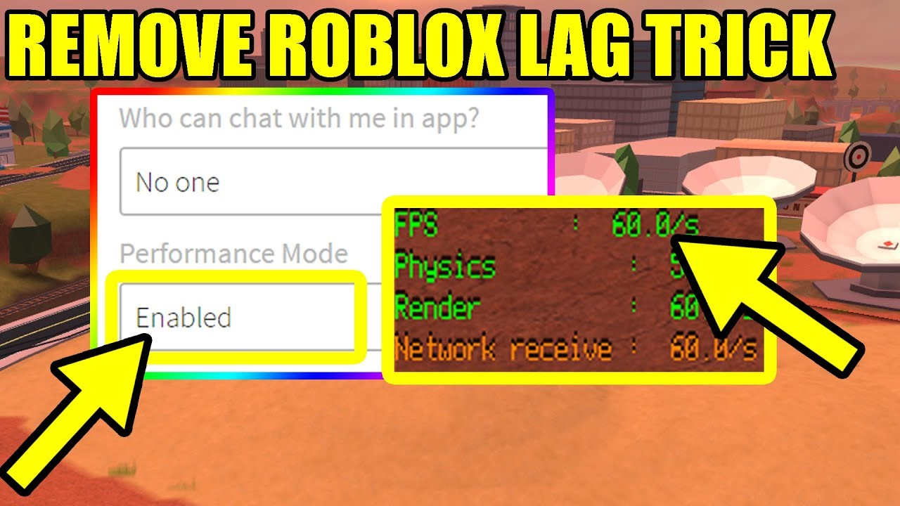 Roblox How To Make Game Lag Free How To Fix Roblox Lag Roblox Jailbreak Youtube