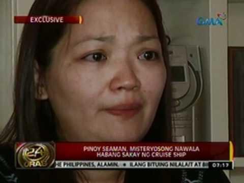 24 Oras: Pinoy Seaman, misteryosong nawala habang sakay ng Cruise Ship