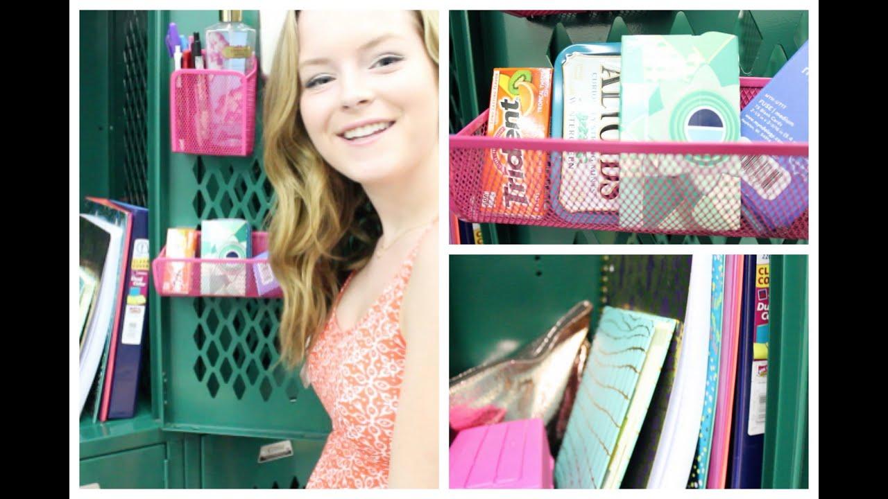 Diy locker decorations - What S In My Locker Organization Amp Tips Youtube
