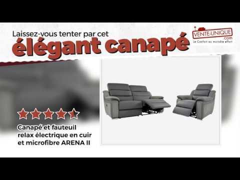Canapé Relax électrique Bimatière Arena Ii