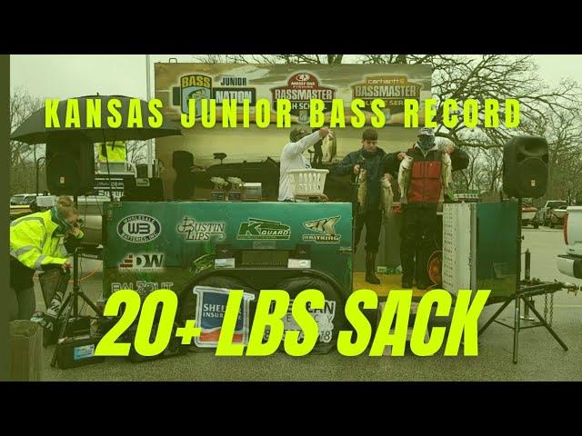 Table Rock Lake in Branson, Missouri-Kansas Junior Bass March 14, 2021