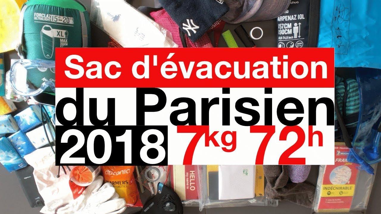 Sac d evacuation du parisien dition 2018 4k youtube - Sac d evacuation ...