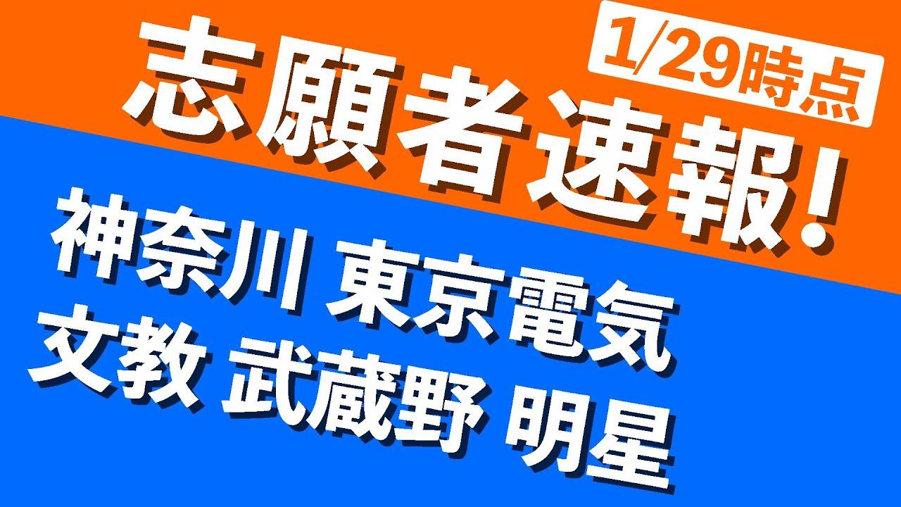 大学 者 速報 志願 武蔵野