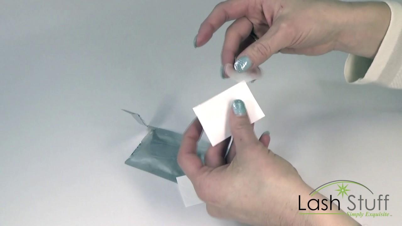Mini Lint Free Eyelash Extension Eye Gel Pads by Lash Stuff - YouTube