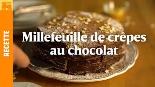 Millefeuille de crêpes au chocolat
