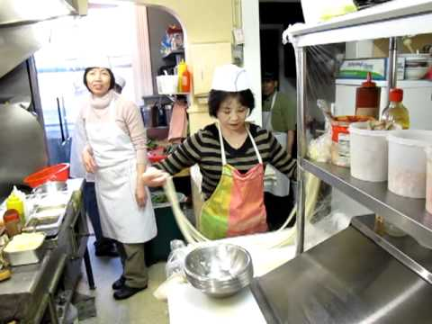 Noodle Stretching Making At Frank S Noodle House Youtube