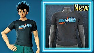 JUMP FORCE FREE DLC - How To Get Jump Force Game Logo Avatar T-Shirt (PS4 & XBOX ONE)